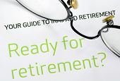 stock photo of retirement  - Focus on the investment in the retirement plan concept of finance and retirement - JPG