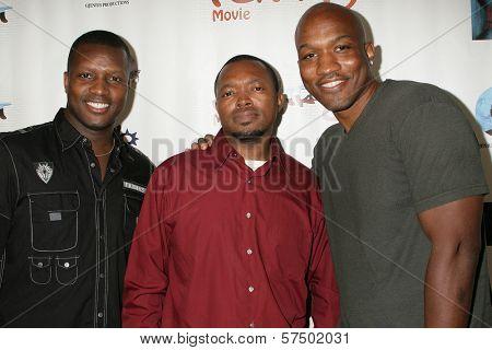 Marlon D. Haynes, Kenny Horn and Lazrael Lison at the