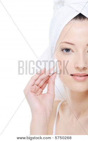 Clean And Fresh Woman Face