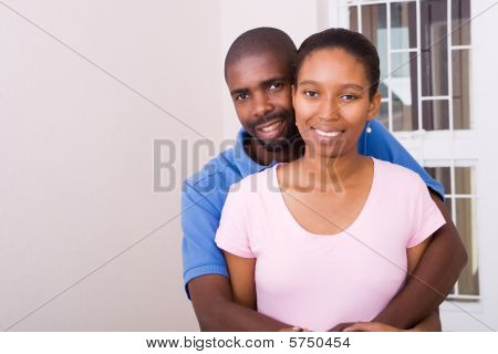 african american couple in new home