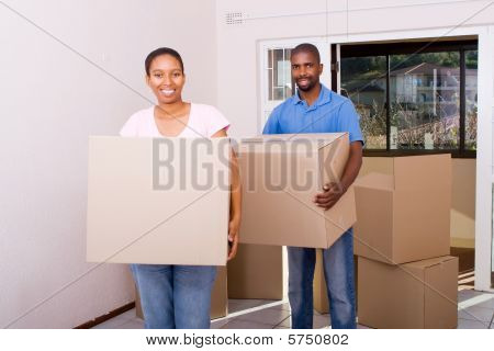couple moving home