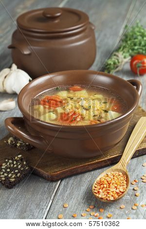 Lentil Soup With Vegetables