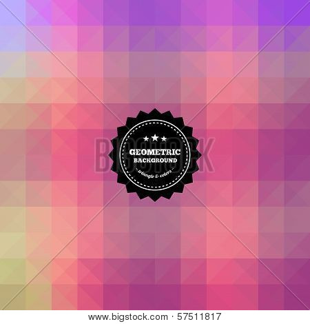 Retro, vintage geometric background.