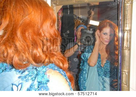 Phoebe Price wearing designs by Tal Sheyn at Tal Sheyn Studios preparing for the American Music Awards, Tal Sheyn Studios, Hollywood, CA. 11-22-09