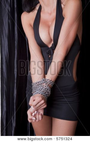 Torture Sexy Woman Hands In Chains