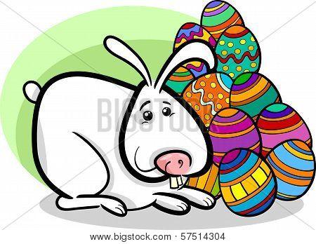 Easter Bunny Cartoon Illustration