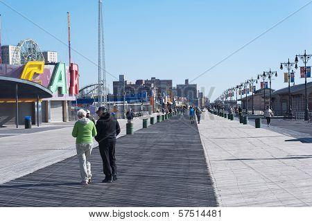 Coney Island boardwalk in New York City
