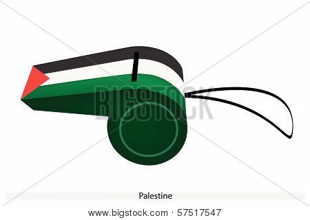 A Black, White And Green Whistle Of Palestine
