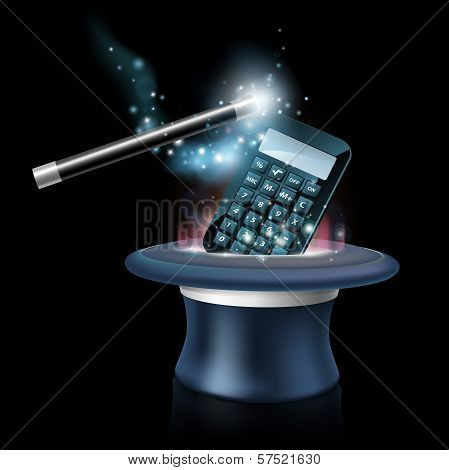 Magic Math Concept
