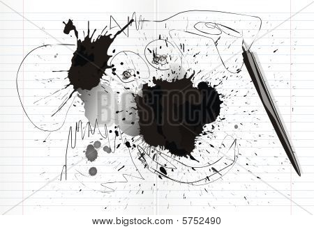 inkblots and scrawl