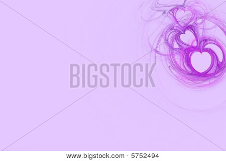 Lavender Heart Design With Pastel Pink Copy Space