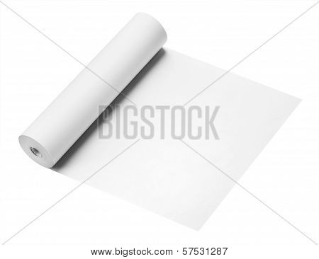 Roll of white paper, isolated