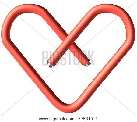 Red Paper-clip Heart