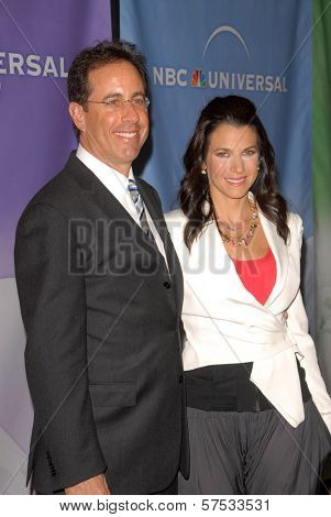 Jerry Seinfeld and Jessica Seinfeld at NBC Universal's Press Tour Cocktail Party, Langham Hotel, Pasadena, CA. 01-10-10