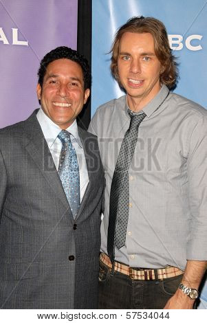 Oscar Nunez and Dax Shepard at NBC Universal's Press Tour Cocktail Party, Langham Hotel, Pasadena, CA. 01-10-10