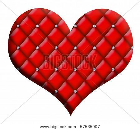 Valentine Heart Diamond Tufted