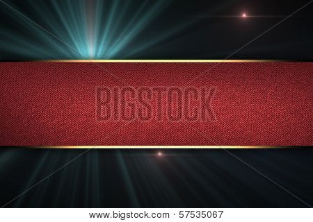 Design template - Black Background with abstract nameplate