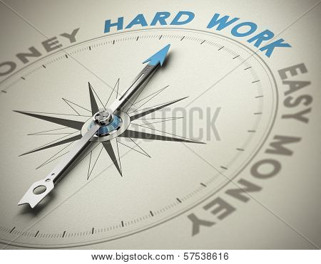 Personal Values - Hard Work Concept