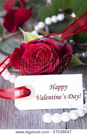 Label With Happy Valentines Day
