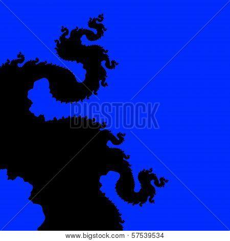 Blue dragon fractal