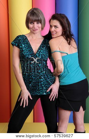 Rena Riffel and Alicia Arden at a promotional photo shoot for the Leica S2 Medium Format 37 MP Digital Camera Debut, Samys Camera, Los Angeles, CA. 01-15-10