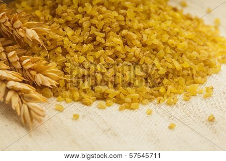 Bulgur in bag