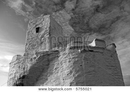 The Huer's Hut on the headland at Newquay Bay near Land's End, Cornwall, UK