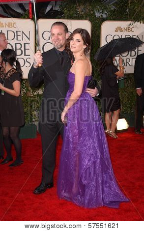 Jesse James and Sandra Bullock  at the 67th Annual Golden Globe Awards, Beverly Hilton Hotel, Beverly Hills, CA. 01-17-10