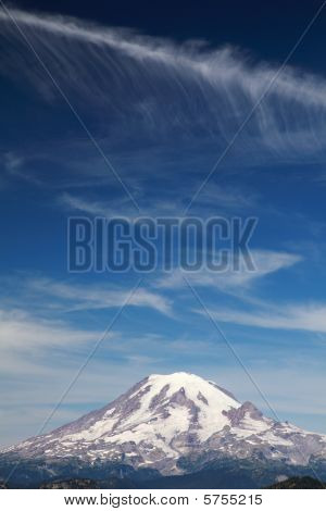Mt. Rainier With Clouds