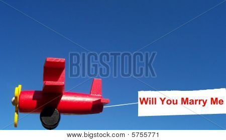 Will You Marry Me Airplane Banner Sign