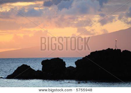 sunset over Molokai