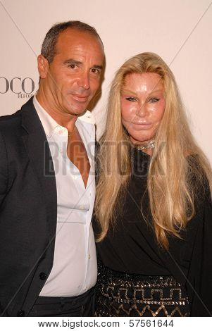 Lloyd Klein and Jocelyn Wildenstein at the 'Coco Before Chanel' Premiere Party. Chanel, Beverly Hills, CA. 09-09-09