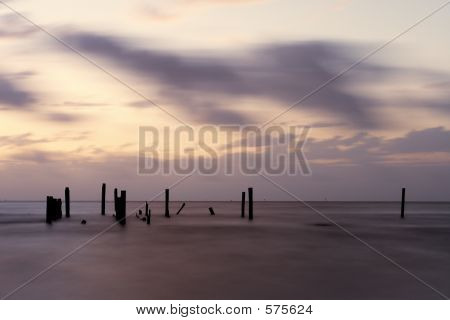 Piling Silhouettes