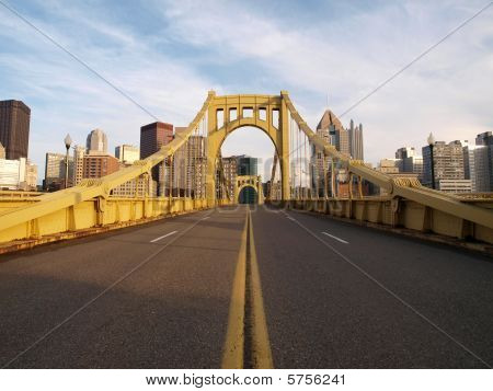 Empty Pittsburgh Bridge