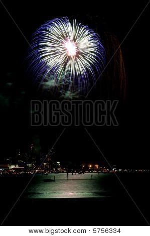 Fourth Of July Fireworks Over Lake Coeur D Alene.
