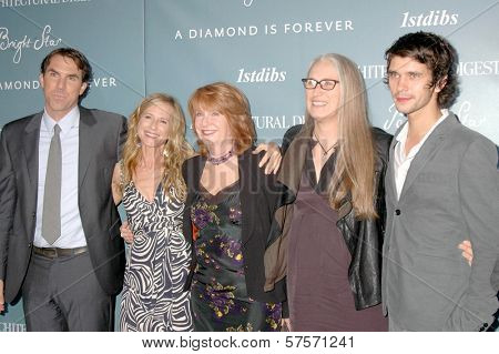 L-R Paul Schneider, Holly Hunter, Jan Chapman, Jane Campion and Ben Whishaw at the Los Angeles Premiere of 'Bright Star'. Arclilght Holywood, Hollywood, CA. 09-16-09
