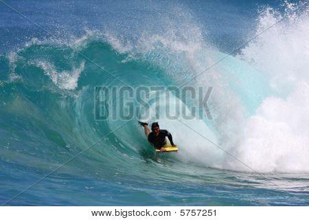 Hawaiian bodyboarder