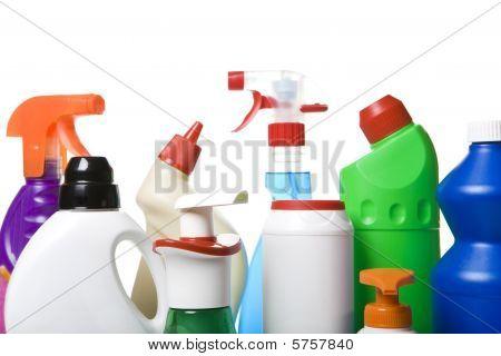 Colección de limpiadores de higiene para las tareas domésticas