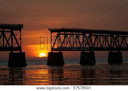 Bahia Honda Bridge Sunset