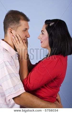 Mid Adult Couple Embrace
