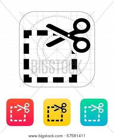 Cut square icon.