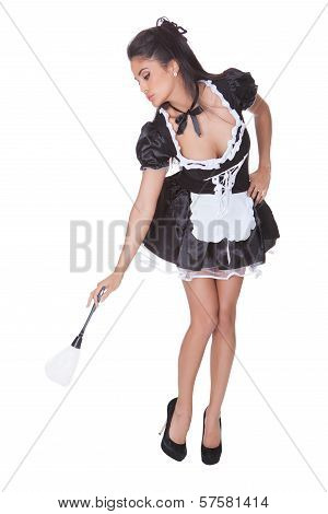 Sexy Maid In Skimpy Uniform