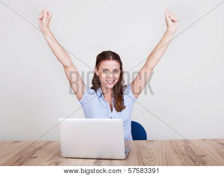 Upbeat Successful Young Woman