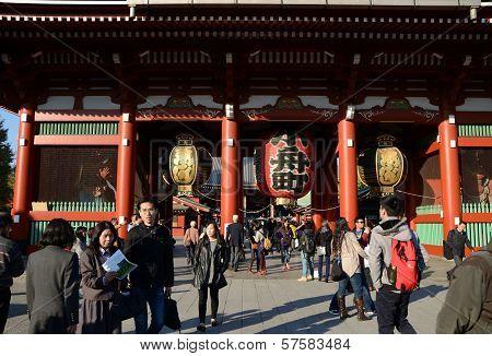 Asakusa, Japan- Nov 21, 2013: Sensoji Temple Is Very Popular Temple In Tokyo, Japan
