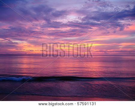 Sunset Over The Andaman Sea In Khao Lak, Thailand