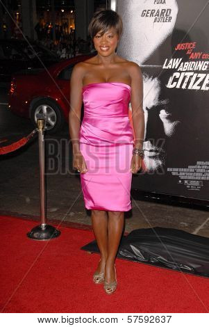 Viola Davis at the Los Angeles Premiere of 'Law Abiding Citizen'. Grauman's Chinese Theatre, Hollywood, CA. 10-06-09