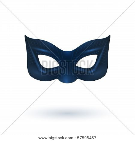 Black Leather Mask for Superhero.