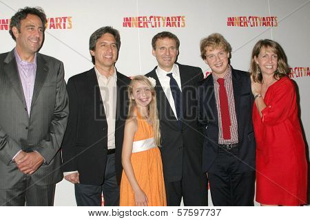 Brad Garrett and Ray Romano with Philip Rosenthal and family at the 20th Anniversary Inner City Arts Imagine Gala and Auction. Beverly Hilton Hotel, Beverly Hills, CA. 10-15-09