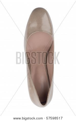 Fashionable women shoe from above