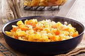 picture of hash  - Apple and root vegetable hash with potato - JPG